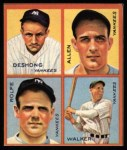 1935 Goudey 4-in-1 Reprint #8 E Jimmy DeShong / Johnny Allen / Red Rolfe / Dixie Walker  Front Thumbnail
