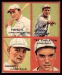 1935 Goudey 4-in-1 Reprint #7 A Frank Frankie Frisch / Dizzy Dean / Ernie Orsatti / Tex Carleton  Front Thumbnail