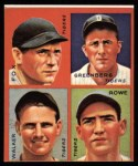1935 Goudey 4-in-1 Reprint #8 F Pete Fox / Hank Greenberg / Gee Walker / Schoolboy Rowe  Front Thumbnail