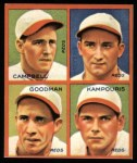 1935 Goudey 4-in-1 Reprint #8 D Bruce Campbell / Billy Meyers / Ival Goodman / Alex Kampouris  Front Thumbnail