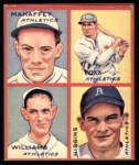1935 Goudey 4-in-1 Reprint #7 B Jimmie Foxx / Pinky Higgins / Roy Mahaffey / Dibrell Williams  Front Thumbnail
