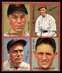 1935 Goudey 4-in-1 Reprints #8 G Billy Werber / Rick Ferrell / Wes Ferrell / Fritz Ostermueller  Front Thumbnail
