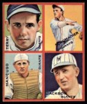 1935 Goudey 4-in-1 Reprint #5 B Travis Jackson / Gus Mancuso / Hal Schumacher / Bill Terry  Front Thumbnail