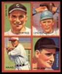 1935 Goudey 4-in-1 Reprint #8 B Minter Hayes / Ted Lyons / Mule Haas / Zeke Bonura  Front Thumbnail