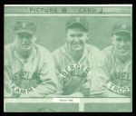 1935 Goudey 4-in-1 Reprint #8 J Ed Coleman / Doc Cramer / Bob Johnson / John Marcum  Back Thumbnail