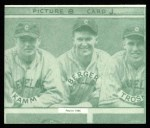 1935 Goudey 4-in-1 Reprint #8 J Ed Coleman / Doc Cramer / Bob Johnson / John Marcum  Back Thumbnail