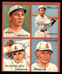 1935 Goudey 4-in-1 Reprint #6 D Sam West / Oscar Melillo / George Blaeholder / Dick Coffman  Front Thumbnail