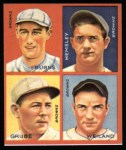 1935 Goudey 4-in-1 Reprint #8 C Jack Burns / Frank Grube / Rollie Hemsley / Bob Weiland  Front Thumbnail