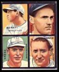 1935 Goudey 4-in-1 Reprint #4 C Charley Berry / Robert Burke / Red Kress / Dazzy Vance  Front Thumbnail