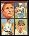 1935 Goudey 4-in-1 Reprints #4 F Sam Byrd / Dan MacFayden / Pepper Martin / Bob O'Farrell  Front Thumbnail