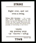 1936 Goudey Reprint #4  Bill Brubaker  Back Thumbnail
