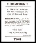 1936 Goudey Reprint #25  Bill Werber  Back Thumbnail