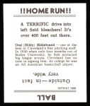 1936 Goudey Reprint #19  Oral Hildebrand  Back Thumbnail