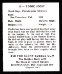 1948 Bowman Reprints #15  Eddie Joost  Back Thumbnail