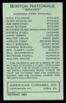 1922 E120 American Caramel Reprint #133  Ray Powell  Back Thumbnail