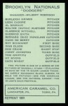 1922 E120 American Caramel Reprint #139  Tom Griffith  Back Thumbnail