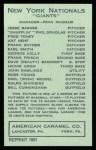 1922 E120 American Caramel Reprint #184  Phil Douglas  Back Thumbnail