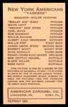 1922 E120 American Caramel Reprint #72  Wallie Schang  Back Thumbnail