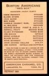 1922 E120 American Caramel Reprint #2  Shano Collins  Back Thumbnail