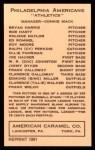 1922 E120 American Caramel Reprint #77  Jimmy Dykes  Back Thumbnail