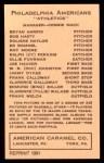 1922 E120 American Caramel Reprint #80  Bryan Harris  Back Thumbnail