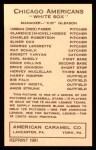 1922 E120 American Caramel Reprint #19  Bib Falk  Back Thumbnail