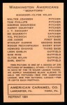 1922 E120 American Caramel Reprint #106  Harry Courtney  Back Thumbnail
