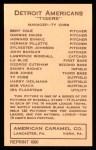 1922 E120 American Caramel Reprint #47  Lu Blue  Back Thumbnail