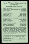 1922 E120 American Caramel Reprint #195  Pep Young  Back Thumbnail