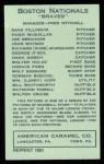 1922 E120 American Caramel Reprint #135  John Watson  Back Thumbnail