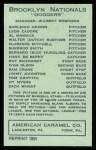 1922 E120 American Caramel Reprint #145  Hy Myers  Back Thumbnail