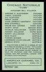1922 E120 American Caramel Reprint #163  Hack Miller  Back Thumbnail