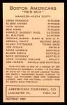 1922 E120 American Caramel Reprint #12  Jack Quinn  Back Thumbnail