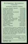 1922 E120 American Caramel Reprint #218  Charlie Grimm  Back Thumbnail