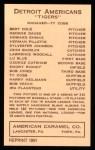 1922 E120 American Caramel Reprint #54  Harry Heilmann  Back Thumbnail
