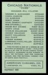 1922 E120 American Caramel Reprint #164  Bob O'Farrell  Back Thumbnail