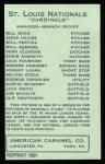 1922 E120 American Caramel Reprint #239  Milton Stock  Back Thumbnail