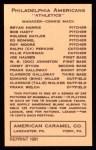 1922 E120 American Caramel Reprint #76  Frank Calloway  Back Thumbnail