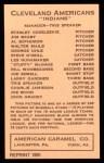 1922 E120 American Caramel Reprint #36  Walter Mails  Back Thumbnail