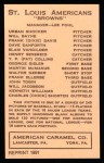 1922 E120 American Caramel Reprint #103  John Tobin  Back Thumbnail