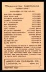 1922 E120 American Caramel Reprint #108  Goose Goslin  Back Thumbnail