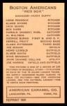1922 E120 American Caramel Reprint #1  George H. Burns  Back Thumbnail