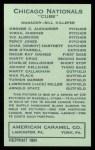 1922 E120 American Caramel Reprint #162  Martin Krug  Back Thumbnail