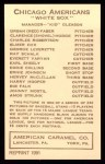 1922 E120 American Caramel Reprint #24  Hervey McClellan  Back Thumbnail