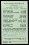 1922 E120 American Caramel Reprint #224  James Tierney  Back Thumbnail