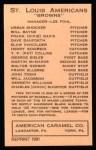 1922 E120 American Caramel Reprint #105  Ken Williams  Back Thumbnail