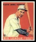 1933 Goudey Reprint #5  Babe Herman  Front Thumbnail