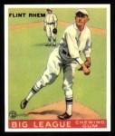 1933 Goudey Reprints #136  Flint Rhem  Front Thumbnail