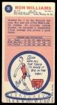 1969 Topps #36  Ron Williams  Back Thumbnail