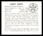 1950 Bowman REPRINT #39  Larry Doby  Back Thumbnail